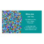Modelo de mosaico azul colorido abstracto plantilla de tarjeta personal