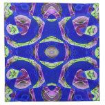 Modelo de mosaico azul colorido servilleta