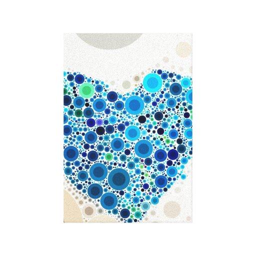 Modelo de mosaico azul fresco de los círculos conc lona envuelta para galerias