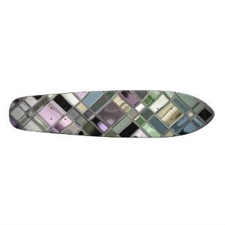 Modelo de mosaico brillante de la pizarra skateboard