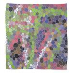 Modelo de mosaico colorido bandana