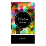 Modelo de mosaico colorido del estilista plantillas de tarjeta de negocio