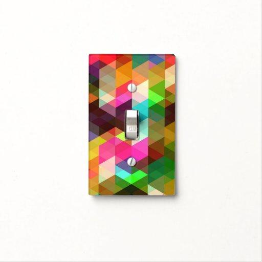 Modelo de mosaico colorido elegante abstracto placas para interruptor