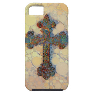 Modelo de mosaico cruzado cristiano fresco del cír iPhone 5 Case-Mate cárcasas