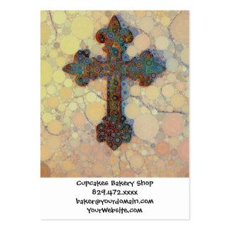 Modelo de mosaico cruzado cristiano fresco del cír