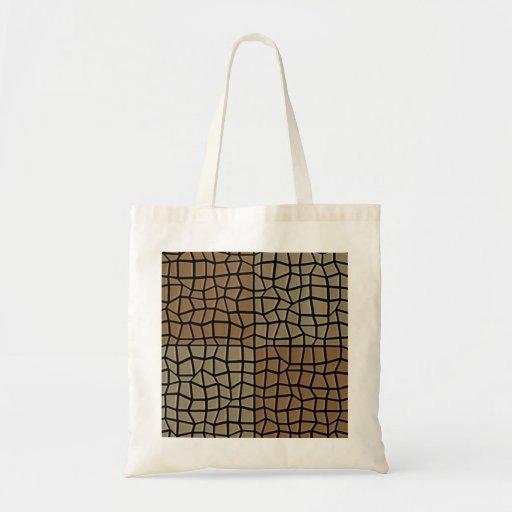 Modelo de mosaico cuadrado de la teja bolsa