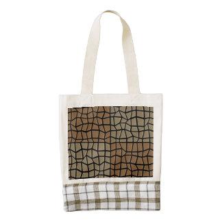 Modelo de mosaico cuadrado de la teja bolsa tote zazzle HEART