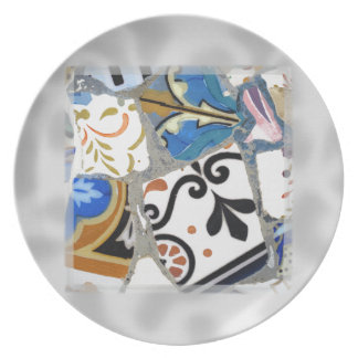 Modelo de mosaico de Gaudi Platos De Comidas