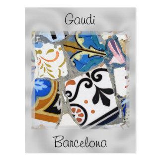 Modelo de mosaico de Gaudi Postal