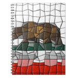 Modelo de mosaico de la bandera de California