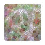 Modelo de mosaico de moda posavasos de puzzle