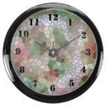 Modelo de mosaico de moda reloj pecera