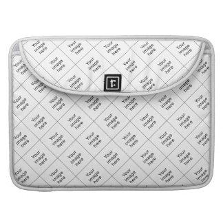 Modelo de mosaico de plantilla en blanco para funda macbook pro