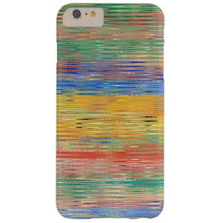 Modelo de mosaico decorativo de las rayas funda para iPhone 6 plus barely there