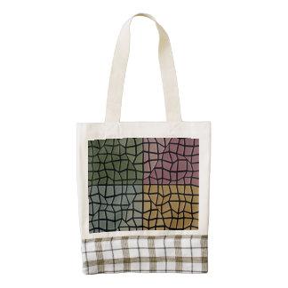 Modelo de mosaico del cuadrado y del triángulo bolsa tote zazzle HEART