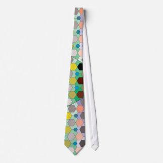 Modelo de mosaico del hexágono corbata personalizada