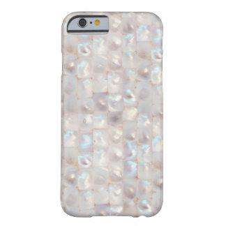 Modelo de mosaico elegante nacarado elegante funda para iPhone 6 barely there