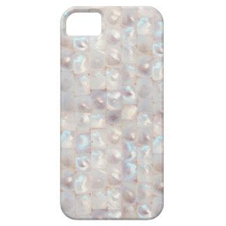 Modelo de mosaico elegante nacarado elegante iPhone 5 fundas