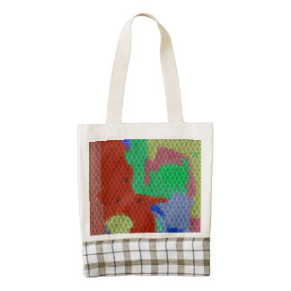 Modelo de mosaico extraño bolsa tote zazzle HEART