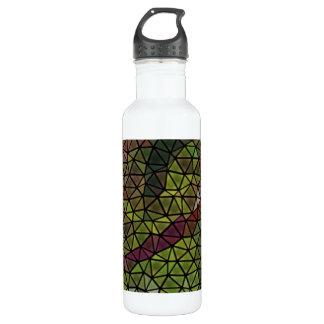 Modelo de mosaico extraño botella de agua de acero inoxidable