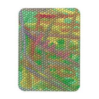 Modelo de mosaico extraño iman