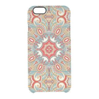 Modelo de mosaico floral bonito del trullo rojo funda clearly™ deflector para iPhone 6 de uncommon
