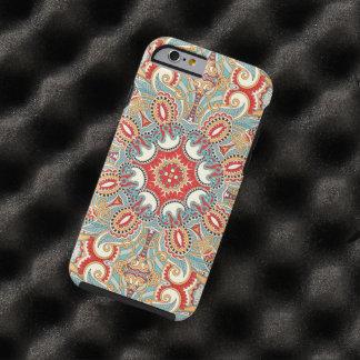 Modelo de mosaico floral bonito del trullo rojo funda para iPhone 6 tough