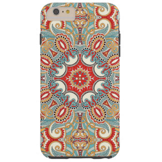 Modelo de mosaico floral bonito del trullo rojo funda resistente iPhone 6 plus
