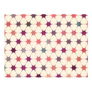 Modelo de mosaico floral colorido postales