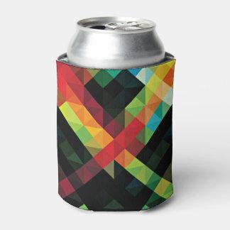 Modelo de mosaico geométrico colorido enfriador de latas