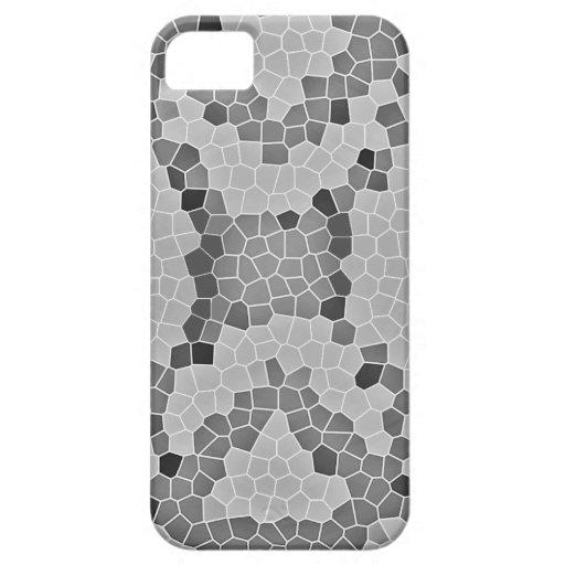 Modelo de mosaico gris de Snakeskin iPhone 5 Carcasa