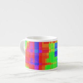 Modelo de mosaico moderno colorido taza espresso