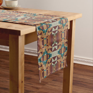 Modelo de mosaico nativo indio americano de moda camino de mesa mediano