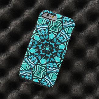 Modelo de mosaico oriental de la turquesa retra funda resistente iPhone 6