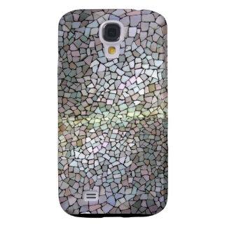 Modelo de mosaico púrpura funda para samsung galaxy s4