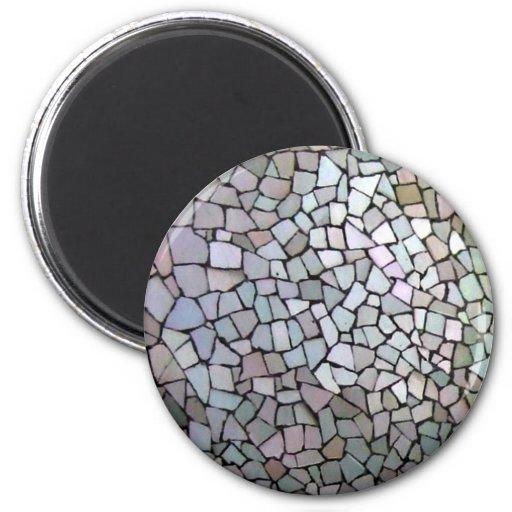 Modelo de mosaico púrpura iman