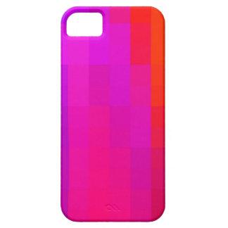 Modelo de mosaico púrpura y anaranjado rosado iPhone 5 funda