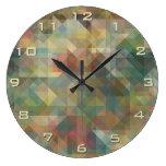 Modelo de mosaico retro abstracto elegante de los reloj