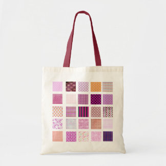 Modelo de mosaico rosado bolsa tela barata