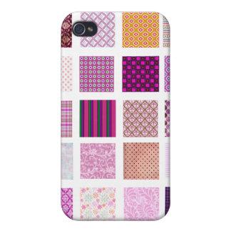 Modelo de mosaico rosado iPhone 4 protector