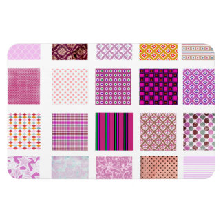 Modelo de mosaico rosado imán rectangular