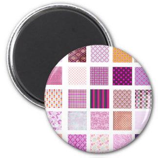 Modelo de mosaico rosado imán redondo 5 cm