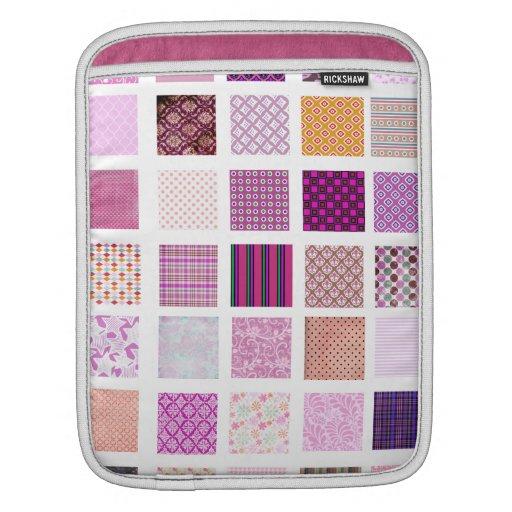 Modelo de mosaico rosado manga de iPad