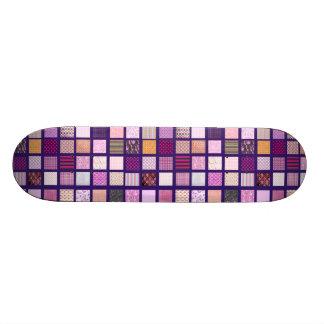 Modelo de mosaico rosado patineta personalizada