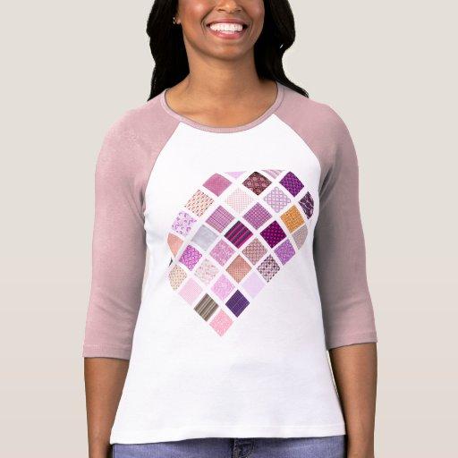 Modelo de mosaico rosado playeras