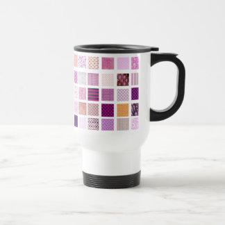 Modelo de mosaico rosado taza térmica