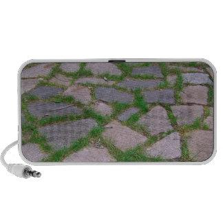Modelo de mosaico rústico de piedra natural del pa laptop altavoces