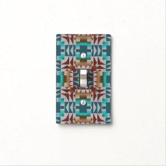 Modelo de mosaico rústico indio nativo americano placa para interruptor