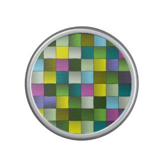 Modelo de mosaico tejido altavoz bluetooth