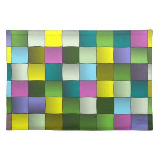 Modelo de mosaico tejido mantel individual